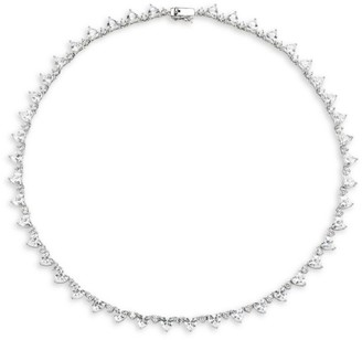 Fallon Micro Heart Riviere Crystal Collar Necklace