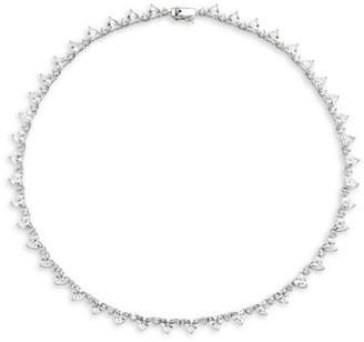Fallon Micro Heart Riviere Crystal Collar Necklace