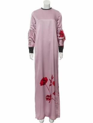 Johanna Ortiz Silk Maxi Dress