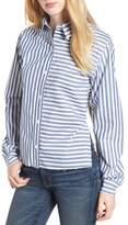 Current/Elliott The Des Stripe Tie Back Shirt