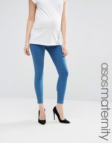 Asos Rivington Jegging In Daisy Wash With Under The Bump Waistband