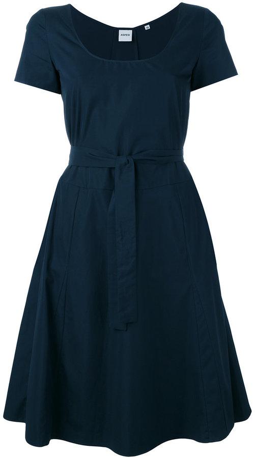 Aspesi belted flared dress