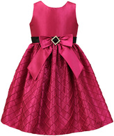 Jayne Copeland Fuchsia Quilted A-Line Dress - Toddler