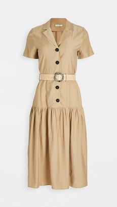 Moon River Collared Midi Dress