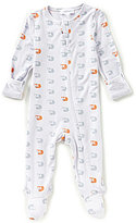 Angel Dear Newborn-6 Months Squirrel-Print Footed Coverall