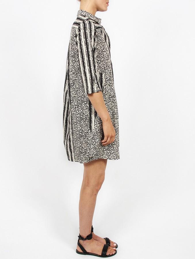 Suno Geometric Collar Dress