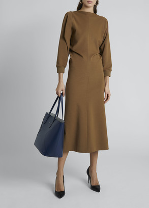 Givenchy Punto Milano V-Neck Midi Dress