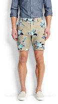 modern Men's Printed Twill Shorts-Indigo Chambray