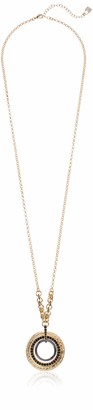 Chaps Women's Necklace 32 inch Circle Pendant