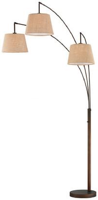 "Luce Artiva Usa Artiva 84"" Modern LED 3-Arch Antique Bronze Floor Lamp w/ Dimmer"