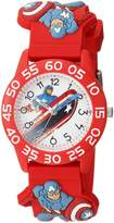 Marvel Boy's 'Captain America' Quartz Plastic Casual Watch, Color: (Model: WMA000038)