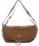 Christian Dior Crystal-Embellished Suede Shoulder Bag