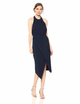 Finders Keepers findersKEEPERS Women's Essie Sleeveless Halter Stretch Midi Sheath Dress