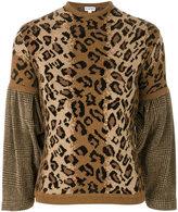 Loewe leopard print jumper