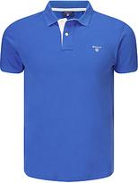Gant Contrast Collar Pique Polo Shirt, Nautical Blue