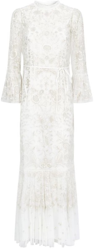 Needle & Thread Demetria Embroidered Gown