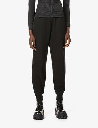 Moncler Pantalone brand-badge cotton-blend jersey trousers