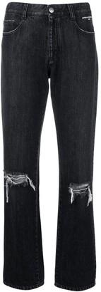 Stella McCartney distressed straight-leg jeans