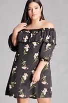 Forever 21 FOREVER 21+ Plus Size Off-the-Shoulder Dress