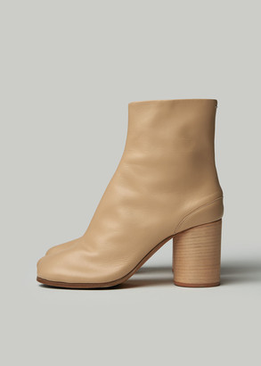 Maison Margiela Women's Tabi Boot in Nude Size 36 Leather