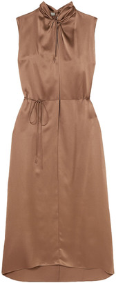 Vince Knotted Silk-satin Dress