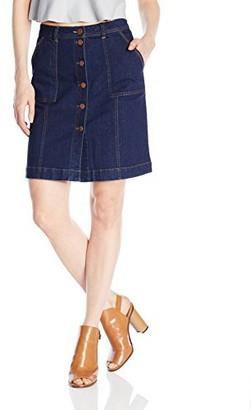BCBGeneration Women's Patch Pocket Denim Skirt