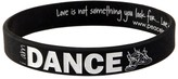 Peace Love World I am Dance Funk Black Classic Silicone Bracelet