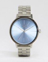 Nixon Silver & Blue Kensington Watch