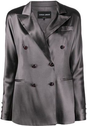 Giorgio Armani Double-Breasted Silk Blazer