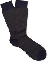 Pantherella - Bedford Puppytooth Escorial Wool-blend Socks