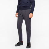 Paul Smith Men's Navy Wool Tapered Trousers