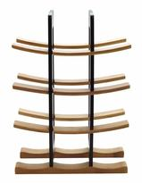 Anchor Hocking Bamboo Wine Rack with Espresso Accents