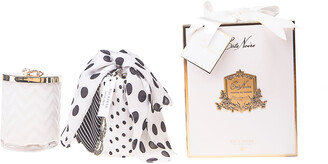 Cote Noire Candle And Scarf Set Lily Flower Pack/2