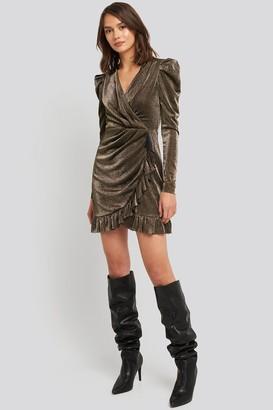 Trendyol Bronze Flywheel Detailed Dress