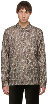 Séfr Beige and Brown Embroidered Sense Shirt