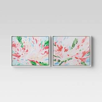"Minted Opalhouse (Set of 2) 20"" x 16"" Abstract Floral Framed Canvas - OpalhouseTM"