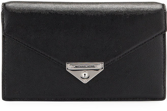 MICHAEL Michael Kors Grace Leather Envelope Clutch Bag
