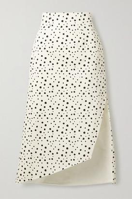 Silvia Tcherassi Gimme Asymmetric Polka-dot Cotton-blend Skirt - White