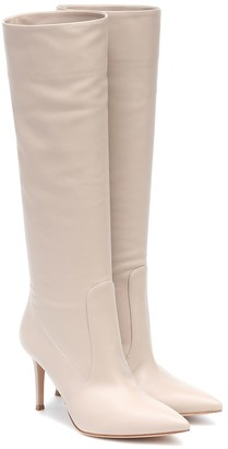 Gianvito Rossi Hansen 85 leather knee-high boots
