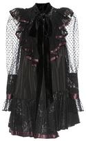 Marc Jacobs Tulle-trimmed Taffeta Dress