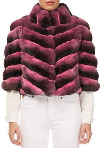 Gorski Chinchilla 3/4-Sleeve Short Jacket