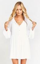 MUMU Sienna Swing Tunic Dress ~ White Chiffon