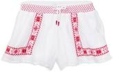 Ralph Lauren Girls' Embroidered Shorts - Sizes 2-6X