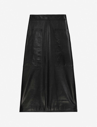 Claudie Pierlot Cafe leather midi skirt