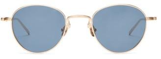 Matsuda Round Titanium Sunglasses - Blue Gold
