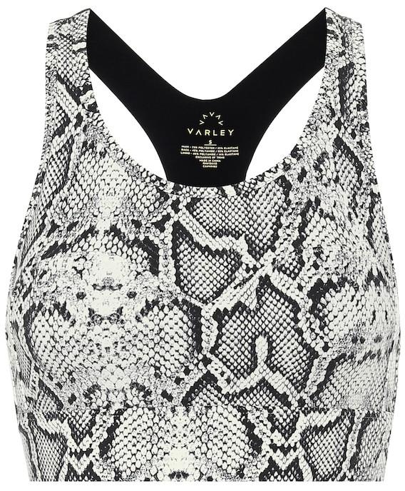 Varley Bassett snake-print sports bra