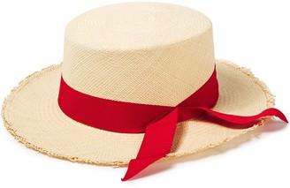 Sensi Canvas-trimmed Woven Toquilla Straw Panama Hat