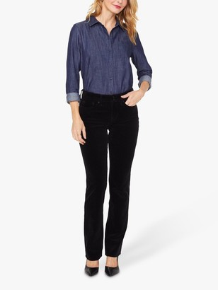 NYDJ Marilyn Straight Cut Corduroy Jeans, Black