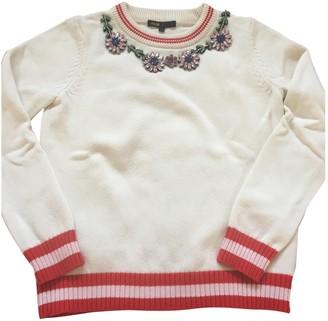 Maje Ecru Cotton Knitwear for Women