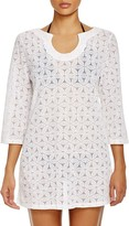 Laundry by Shelli Segal Spellbound Crochet Tunic Cover-Up